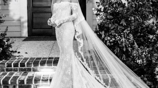 hailey biebers wedding dress proves that virgil abloh is a true creative genius 768x9474699863599493523433