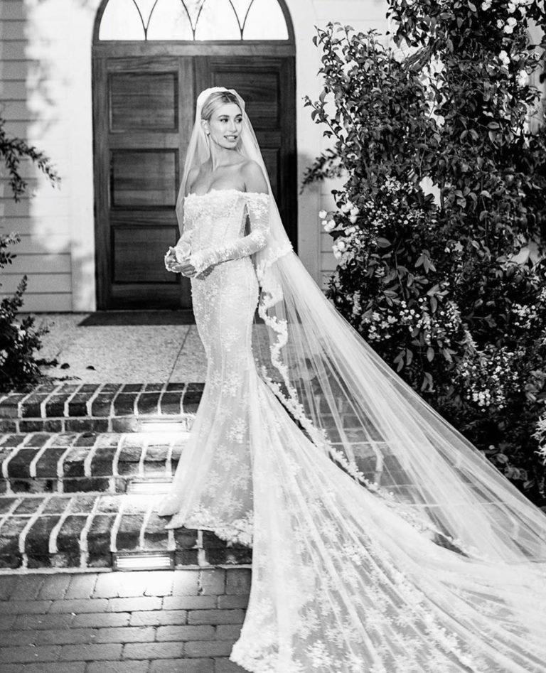 hailey biebers wedding dress proves that virgil abloh is a true creative genius