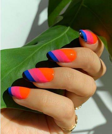 bright stripes mani monday slide 01