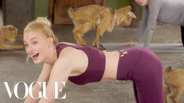 Sophie Turner Vogue Goat Yoga