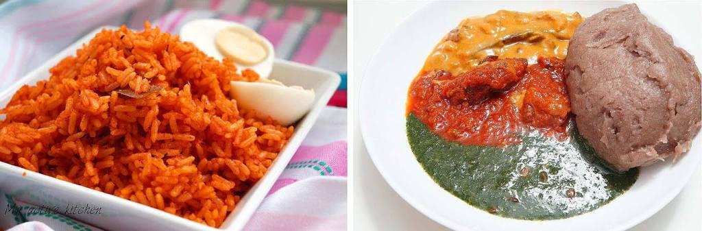 Jollof Amala. Common delicacies at an Owambe Party blog.swaliafrica.com